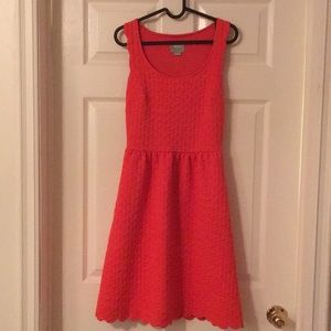 Anthropologie red dress